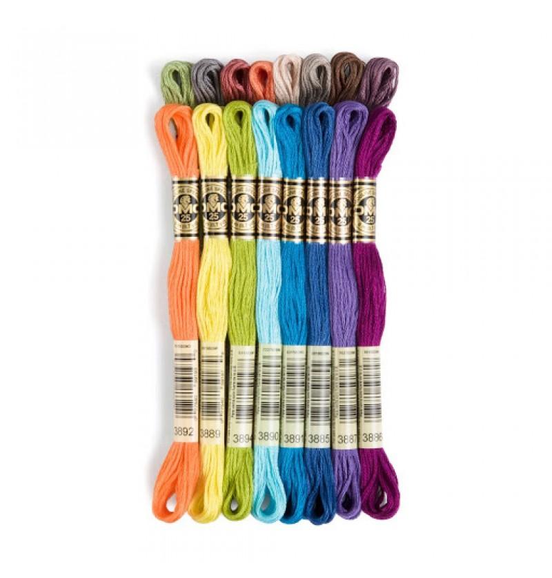 117 Нитки мулине DMC, цвета 3825-3866