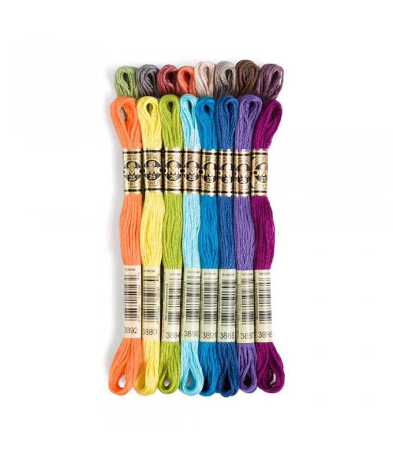 117 Нитки мулине DMC, цвета 3760-3824