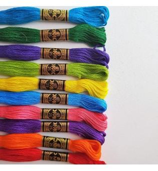 117 Нитки мулине DMC, цвета 645-800