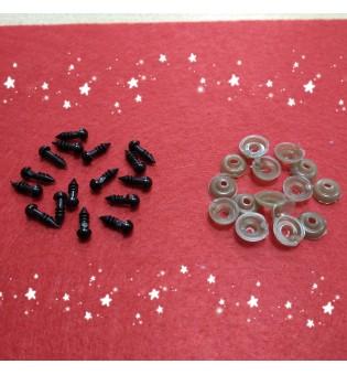 Глазки для игрушек 5 мм, на ножке, пара