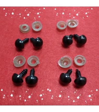 Глазки для игрушек 10 мм, на ножке, пара
