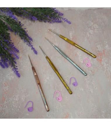 Крючок для вязания Tulip металлический с пластиковой ручкой №1- 2,1