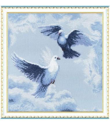 Набор для вышивки крестиком Чарівна Мить « Голуби»