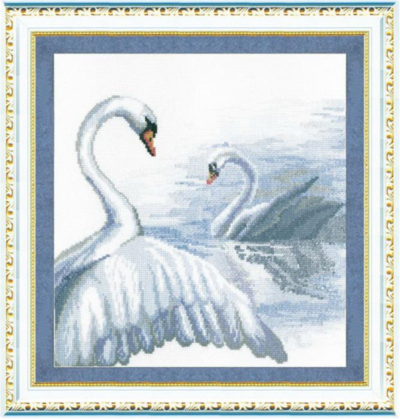 Набор для вышивки крестиком Чарівна Мить Лебеди