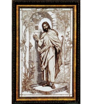 """Набор для вышивки крестиком """"Иисус стучится в твою дверь"""""""