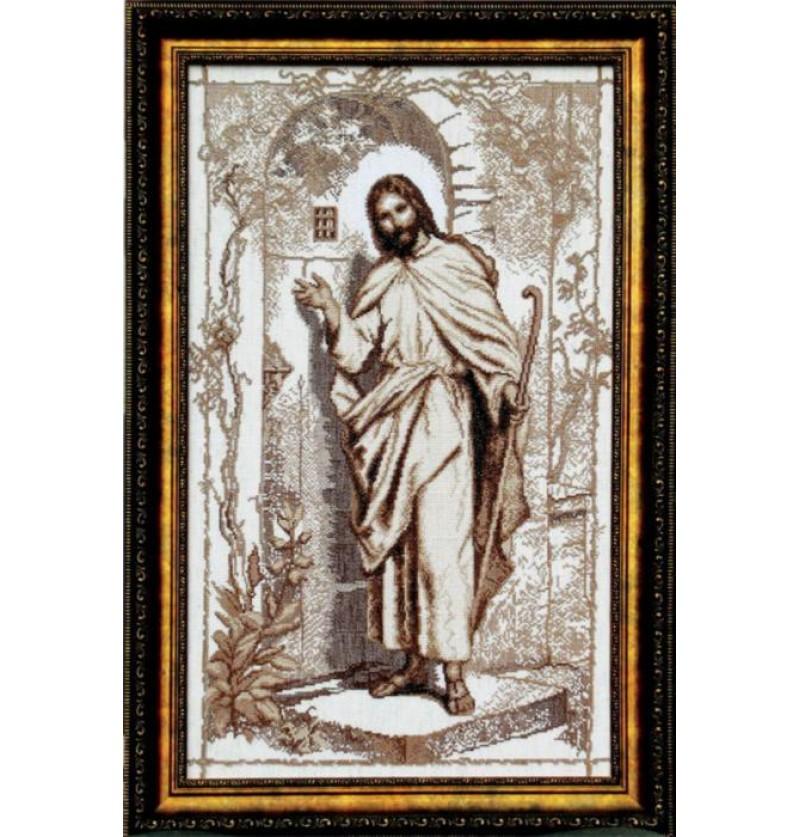 Набор для вышивки крестиком Иисус стучится в твою дверь