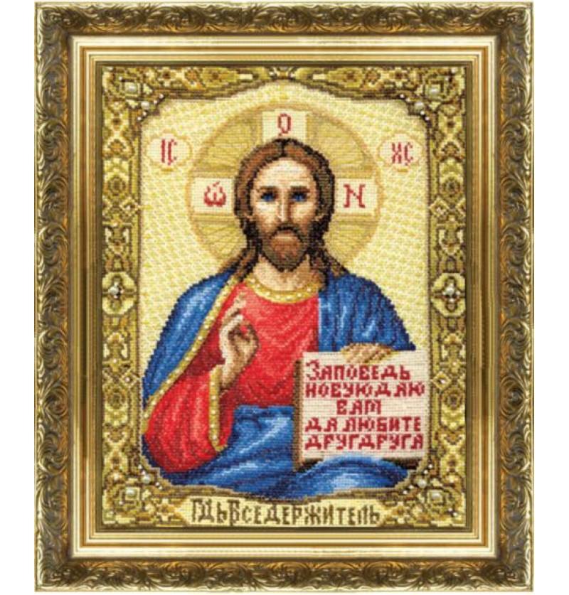 Набор для вышивки крестиком Икона Господа Иисуса Христа