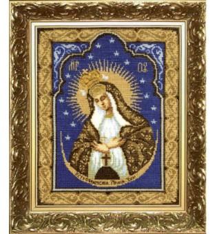 """Набор для вышивки крестиком """"Икона Образ Пресвятой Богородицы Остробрамская"""""""
