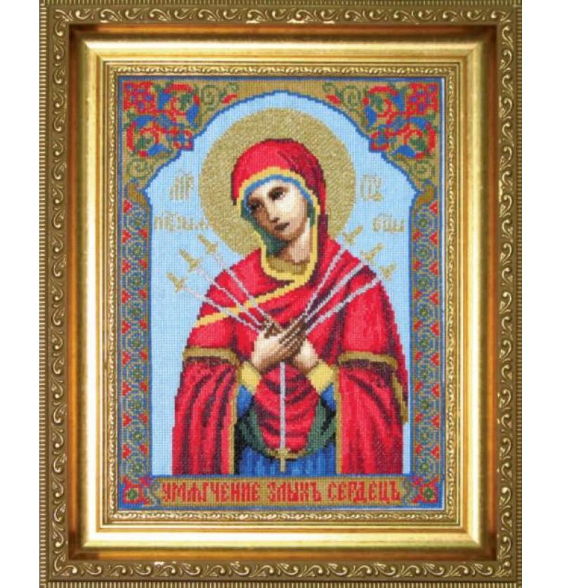 Набор для вышивки крестиком Икона Образ Пресвятой Богородицы Семистрельная