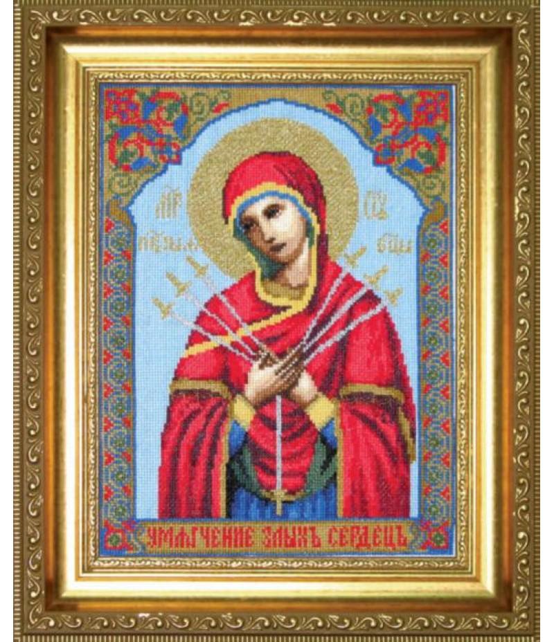 """Набор для вышивки крестиком """"Икона Образ Пресвятой Богородицы Семистрельная"""""""