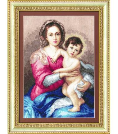 """Набор для вышивки крестиком"""" """"Мадонна с младенцем"""""""