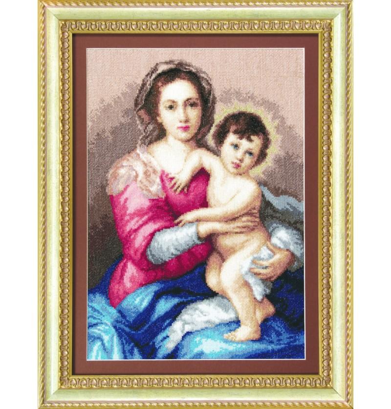 Набор для вышивки крестиком Мадонна с младенцем