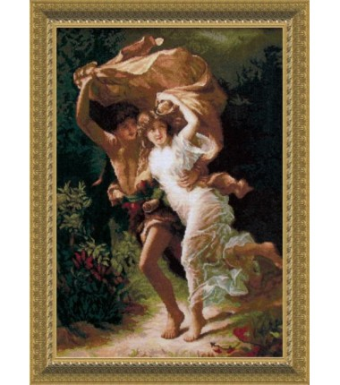 """Набор для вышивки крестиком По мотивам западноевропейской живописи """"Гроза"""""""