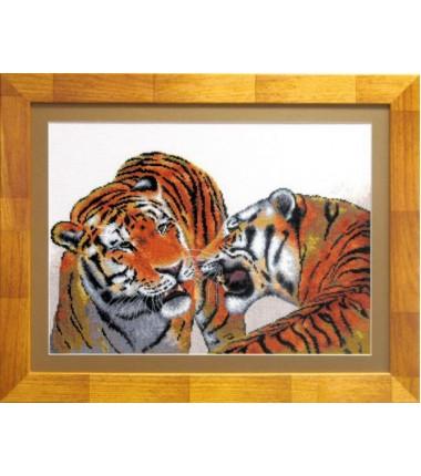 """Набор для вышивки крестиком """"Тигры"""""""