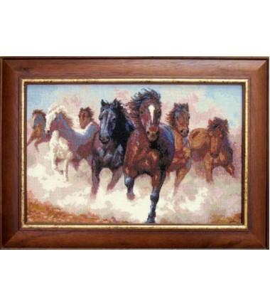 """Набор для вышивки крестиком""""Лошади"""""""